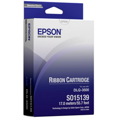 Epson C13S015139 Black Ribbon Cartridge, Long Life to suit DLQ-3000, DLQ-3000+, DLQ-3500