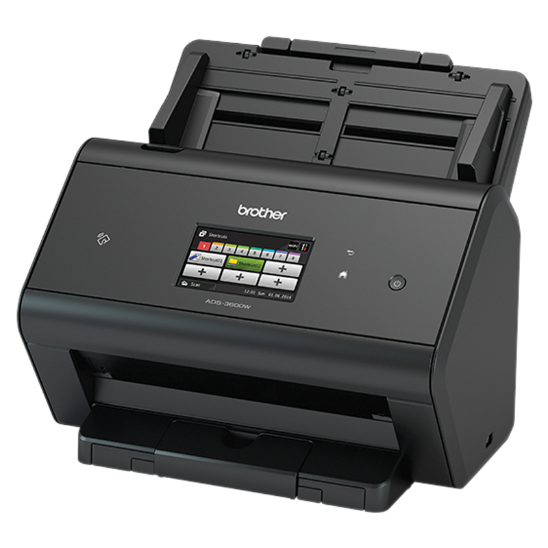 Brother ADS-3600W Advanced Document Scanner, High Speed (50pp) network scanner, Touchsreen LCD