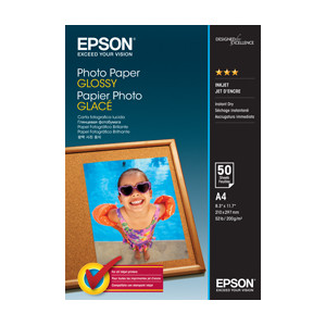Epson C13S042539 Photo Paper Glossy, A4, 50 Sheets Per Pack