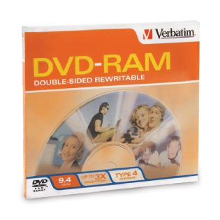 Verbatim 95003 DVD-RAM 9.4GB 3x Type 4 Slide Case