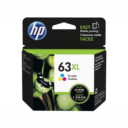 HP F6U63AA #63XL High Yield Tri Colour Ink Cartridge (330 page yield)