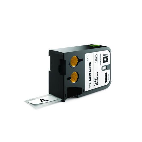 DYMO XTL 25x51mm Black/White Die Tape