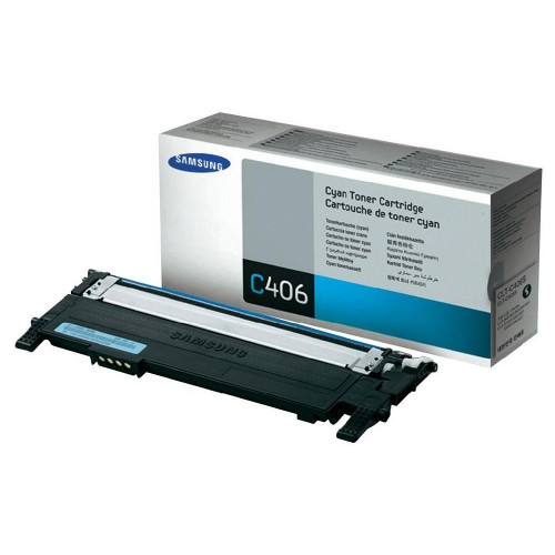 Samsung CLT-C406S Cyan Toner for CLP-360/365, CLX-3300/3305