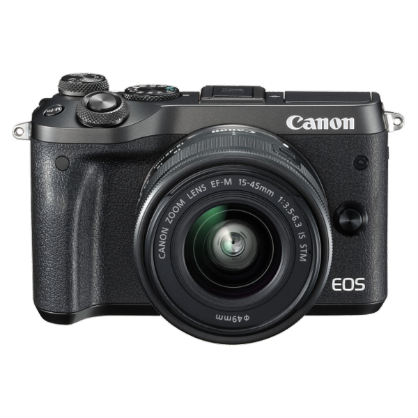 Canon M6KISB EOS M6 Single Kit w/EF-M15-45ST -  Black