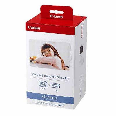 Canon KP108IN Ink/Paper Pack, Postcard Size 148x100mm