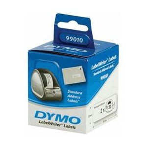 DYMO STANDARD ADDRESS - PAPER  28mm x 89mm 2 Rolls/Box. 130 Labels/Roll