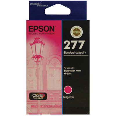 Epson C13T277392 Std Capacity Claria Photo HD Magenta ink (yields up to 360 pages)