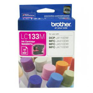 Brother LC-133M Magenta Ink Cartridge (Yield, up to 600 pages)