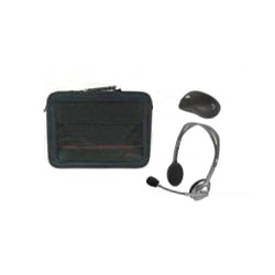 15 Inch Carry Bag, Wireless Notebook Mouse and Stereo Headset