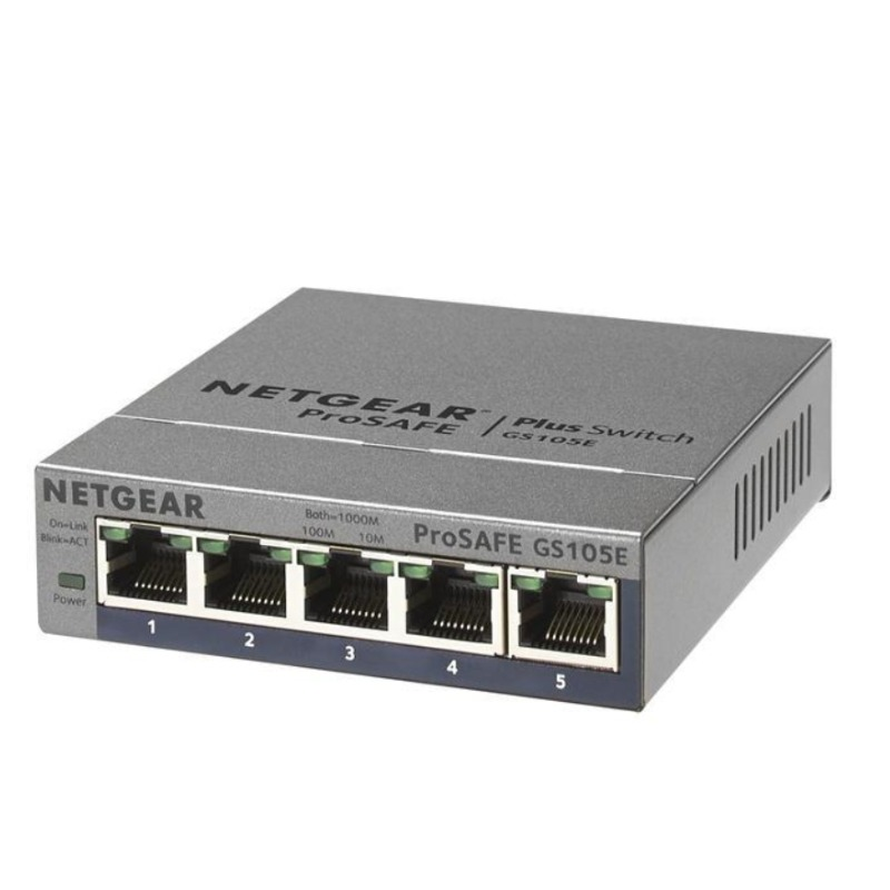 Netgear GS105E ProSafe Plus 5 Port Gigabit Ethernet Switch