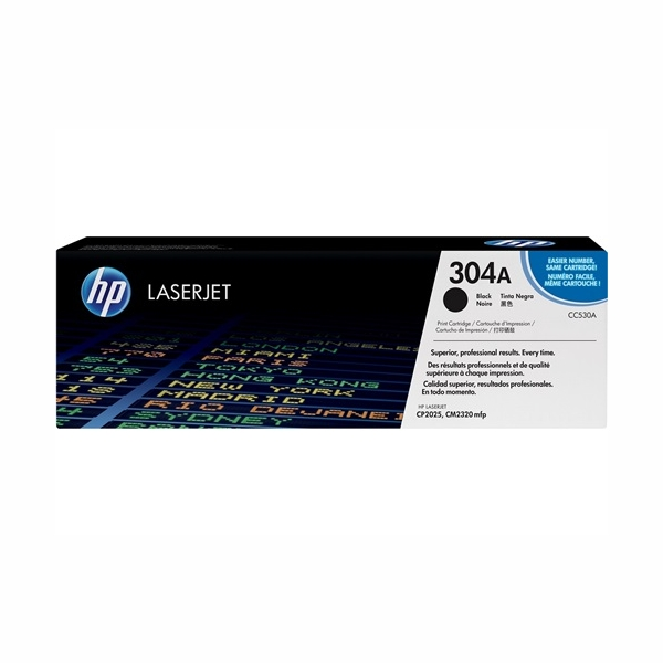 HP CC530A #304A Black Toner Cartridge (3,500 Yield)