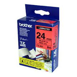 Brother TZ-451 Laminated Black Printing on Red Tape (24mm Width; 8 Metres in Length)