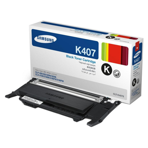 Samsung CLT-K407S Black Toner for CLP-320/325/CLX-3185 (1,500 Yield)