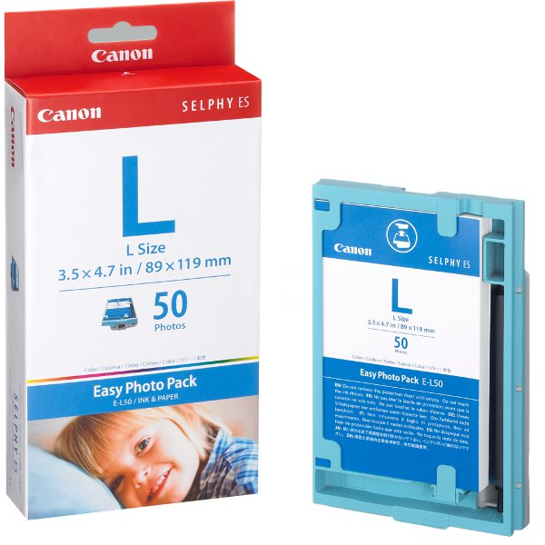 Canon EL50 Easy Photo Pack L Size - 50 sheets  to suit ES1