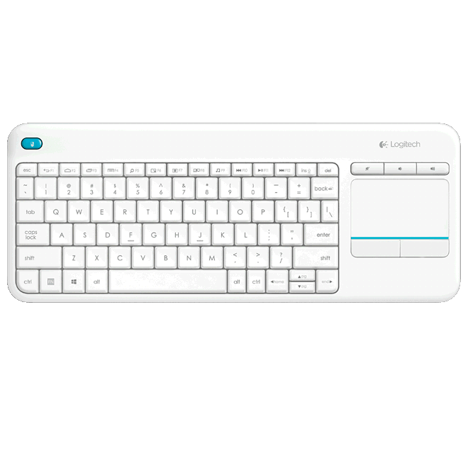 Logitech 920-007166 K400 Plus Wireless Touch Keyboard - White