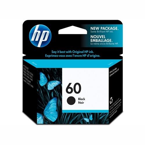 HP CC640WA #60 Black Ink Cartridge (200 page yield)