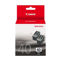 Canon PG40 Standard Yield FINE Black Ink Cartridge - 2 Pack
