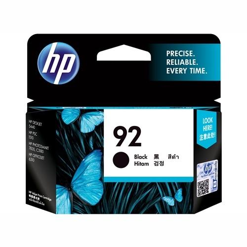 HP C9362WA #92 Black Ink Cartridge (210 page yield)