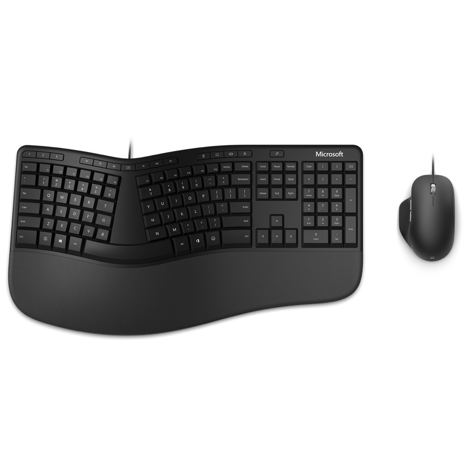 Microsoft RJU-00015 Wired Ergonomic Desktop USB Keyboard and Mouse