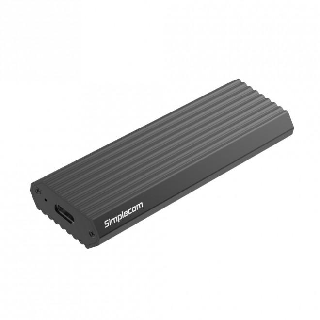 Simplecom SE513 NVMe PCIe (M Key) M.2 SSD to USB3.1 Type C Enclosure, Grey