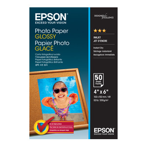 Epson C13S042547 Photo Paper Glossy, 4 Inch x 6 Inch Photo, 50 Sheets Per Pack