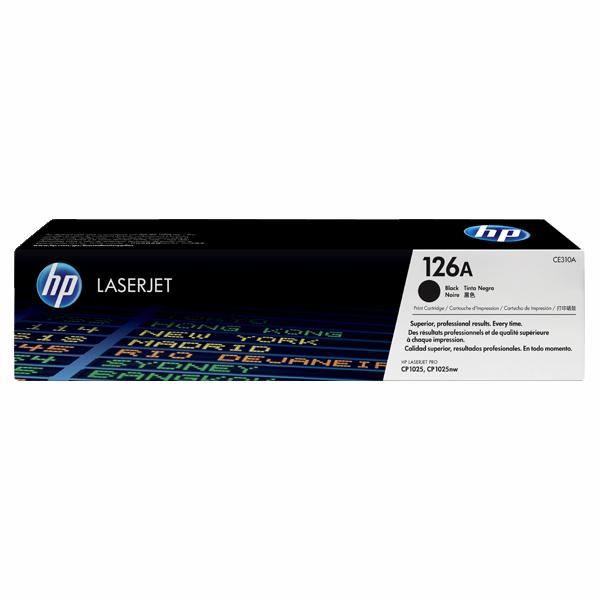 HP CE310A #126A Black Toner Cartridge