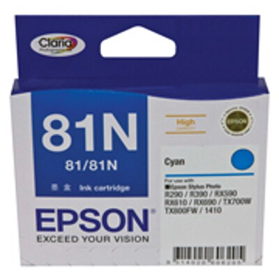 Epson C13T111292 High Capacity Cyan Cartridge (same as C13T081290)(Yields up to 855 pages)