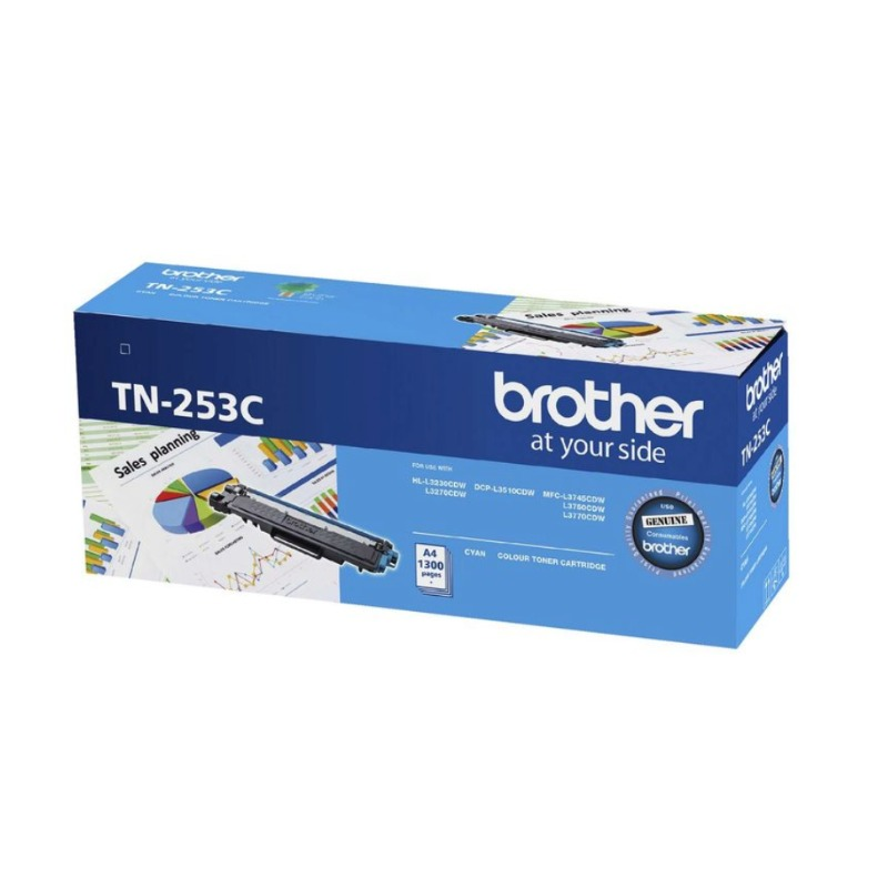 Brother TN-253C Cyan Toner Cartridge, 1 300 pages