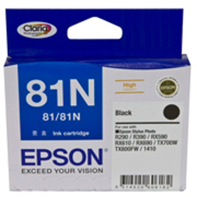 Epson C13T111192 Black Ink Cartridge (High Yield) (same as C13T081190) (Yields up to 480 pages)