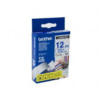 Brother TZ-133 Laminated Blue Printing on Clear Tape (12mm Width 8 Metres in Length)