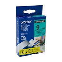 Brother TZ-721 Laminated Black Printing on Green Tape (9mm Width 8 Metres in Length)