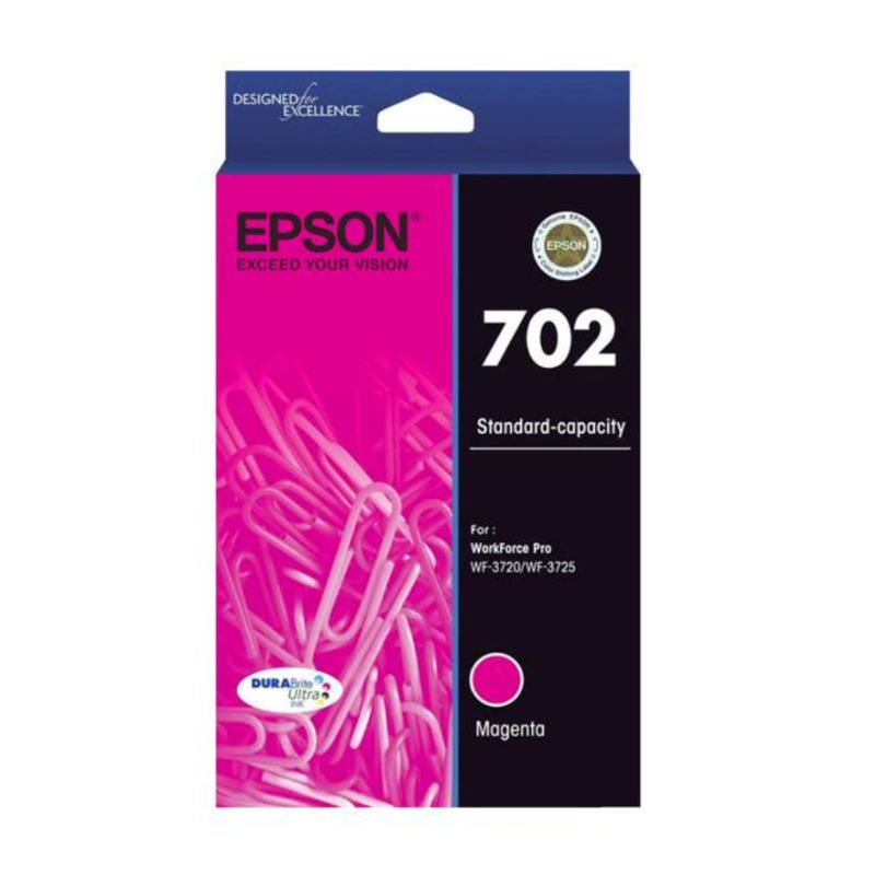 Epson C13T344392 Standard Yield 702 Magenta DURABrite Ink Cartridge