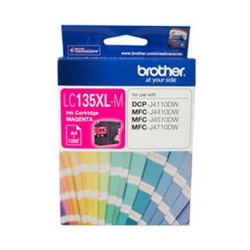 Brother LC-135XLM High Yield Magenta Ink Cartridge (Yield, up to 1,200 pages)