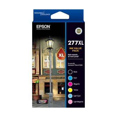 Epson C13T278892 277XL High Capacity Claria Photo HD 6 ink Value Pack