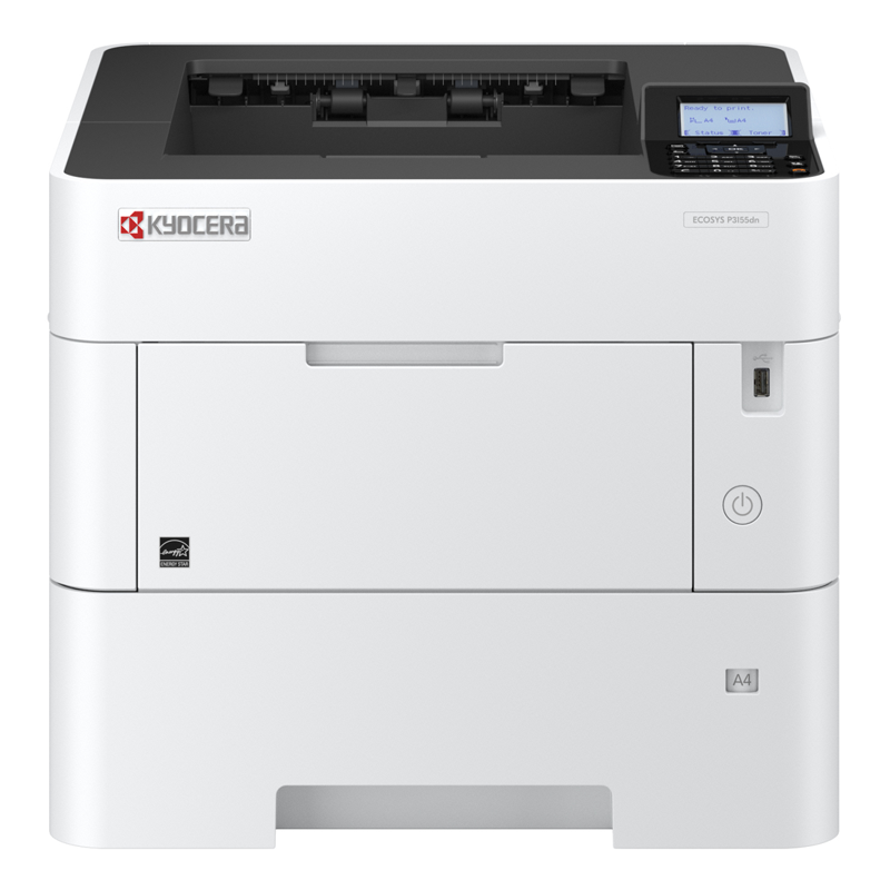 Kyocera P3155DN A4 Workgroup Mono Printer (55ppm)