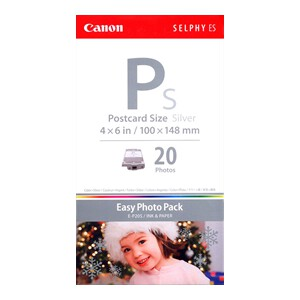Canon EP20S E-P20S 4 Inchx6 Inch 20 Sheets + Silver Ink