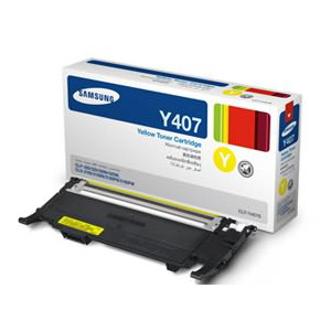 Samsung CLT-Y407S Yellow Toner for CLP-320/325/CLX-3185 (1,000 Yield)