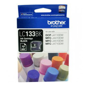 Brother LC-133BK Black Ink Cartridge (Yield, up to 600 pages)
