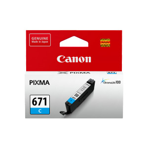 Canon CLI671C Standard Capacity Cyan Ink Tank to suit MG5760/6860/7760 (Yield, 347 pages)