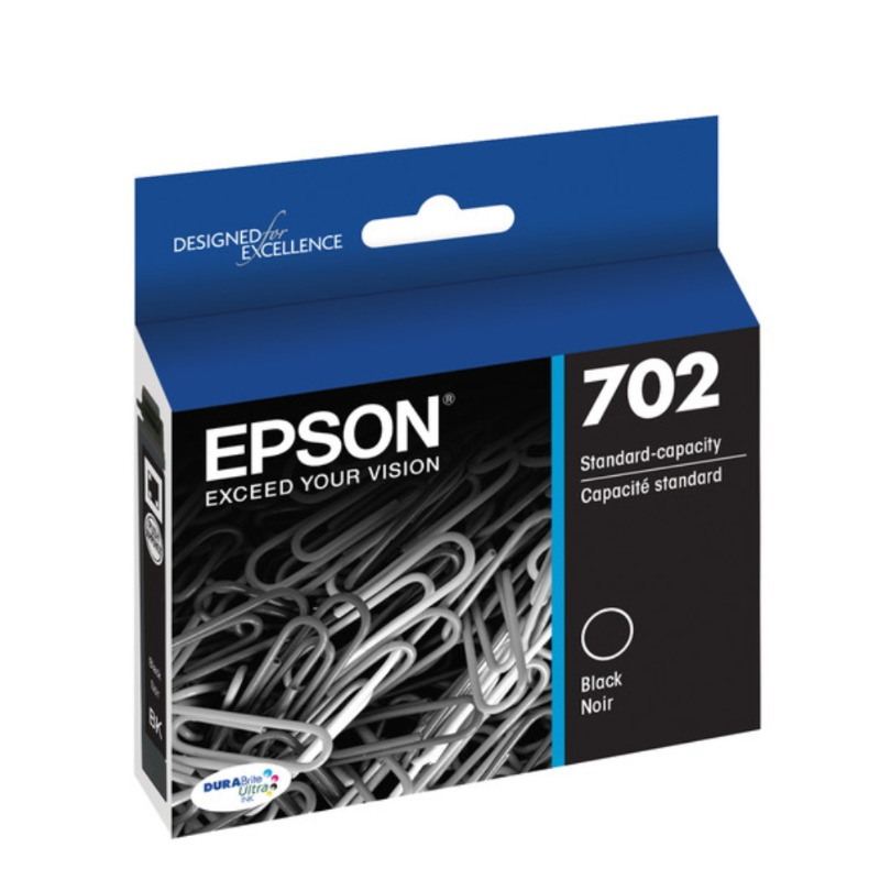 Epson C13T344192 Standard Yield 702 Black DURABrite Ink Cartridge