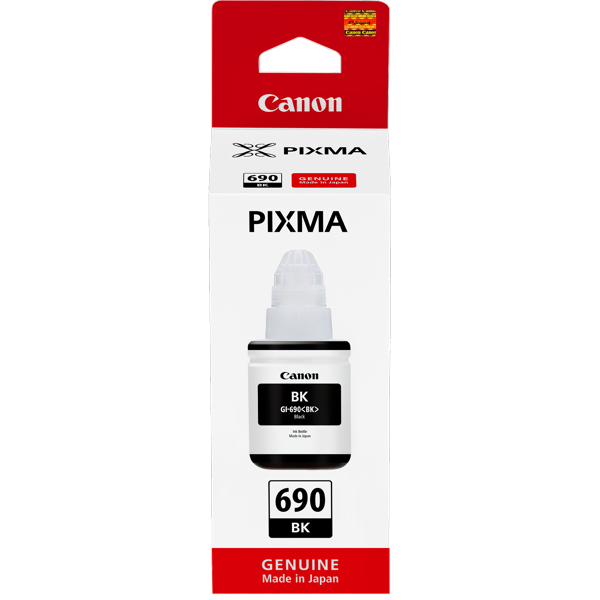 Canon GI690BK, Black Ink Bottle (Yield, up to 6,000 pages)