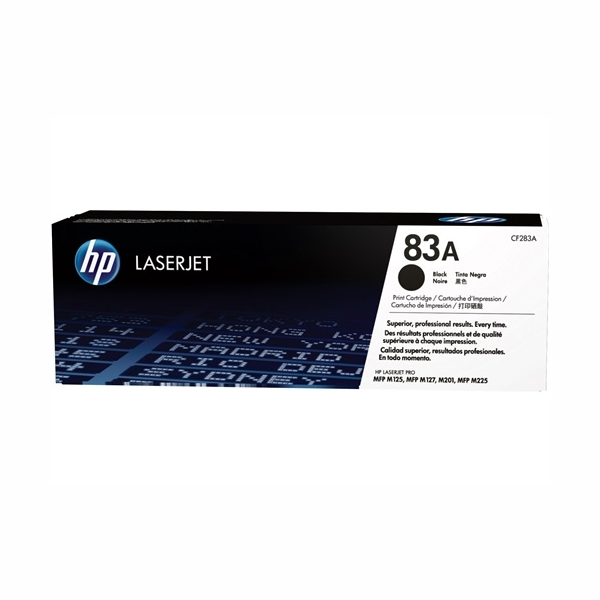 HP CF283A #83A Black Toner Cartridge (1,500 Yield)