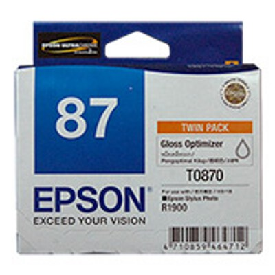 Epson C13T087090 Gloss Optimiser Ink Cartridge (Twin Pack)