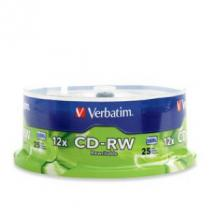 Verbatim 95155 CD-RW 700MB 4x-12x 25 Pack Spindle