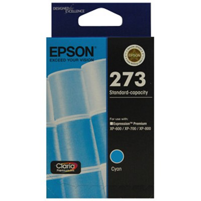 Epson C13T273292 Std Capacity Claria Premium Cyan ink (Yields up to 300 pages)