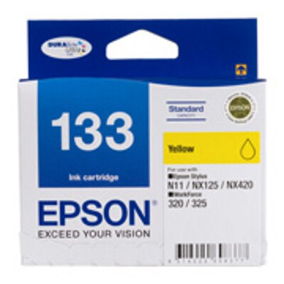 Epson Standard Capacity Yellow ink cartridge to suit STYLUS N11, NX125, NX420, WF 320, 325, 525