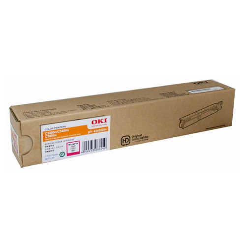 OKI Magenta High Yield Toner Cartridge to suit Printers: OKIC3300N/3400N/3600N (2,500 Yield)