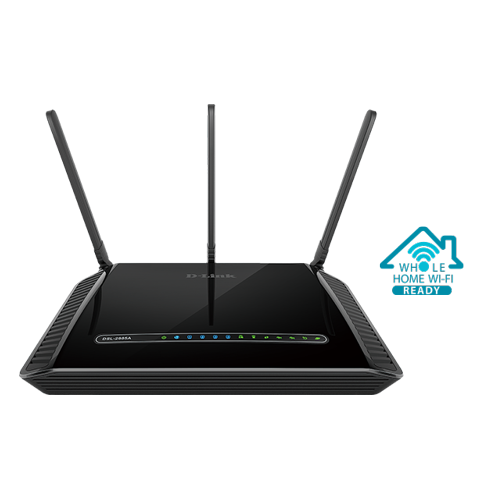DLink DSL-2885A Wireless AC1200 Dual Band Gigabit ADSL2+/VDSL2 Modem Router