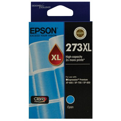 Epson C13T275292 High Capacity Claria Premium Cyan ink (Yields up to 650 pages)