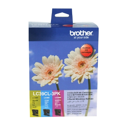 Brother LC-39CL3PK Colour Value Pack - 1 x Cyan; 1 x Magenta; 1 x Yellow Ink Cartridge